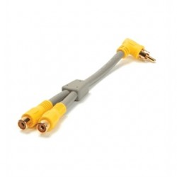 On-Q / LeGrand - F2218 - ON-Q F2218 RCATORCAYSplitterCable, 90 Degree