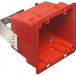 Arlington Industries - FSR404RD - Arlington FSR404RD Red Plastic Box, 4x4, Non-Metallic