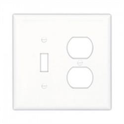 Cooper Wiring Devices - PJ26LA - Arrow Hart PJ26LA Wallplate 2g Duplex/blank Poly Mid Wh