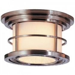 Feiss / Generation Brands - OL2213BS - Murray Feiss OL2213BS Ceiling Light, Outdoor, 2 Light, 40W, Brushed Steel, Limited Quantities Available