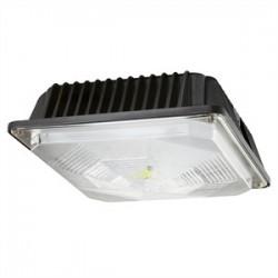 Cree - C-CP-A-SQ-49L-40K-DB - Cree Lighting C-CP-A-SQ-49L-40K-DB LED Canopy, 120-277V, 4900L, 4000K, Dark Bronze