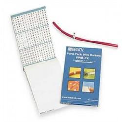 Brady - PWM-PK12 - Porta-pack Wire Markers Legend: A-z