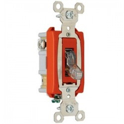 Pass & Seymour - PS20AC1-CPL - Pass & Seymour PS20AC1-CPL Pilot Light Switch, 20 Amp, 120 Volt, Clear