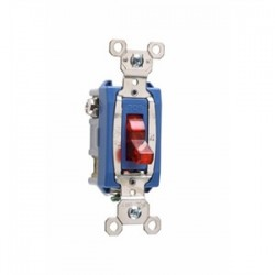 Pass & Seymour - PS15AC1-RPL - Pass & Seymour PS15AC1-RPL Pilot Light Switch, 15A, Ivory, Red, Lighted when ON