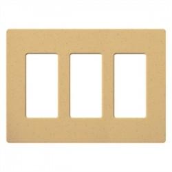 Lutron - SC3GS - Lutron Satin Colors 3 Socket Faceplate - 3 x Socket(s) - 3-gang - Goldstone