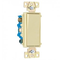 Pass & Seymour - TM874-I - Pass & Seymour TM874-I 4-Way Decora Switch, 15A, 120/277VAC, Ivory