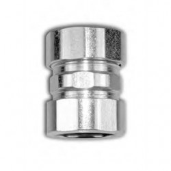American Fittings - EC762US - American Fittings Corp EC762US EMT Compression Coupling, 1 inch, Steel, Concrete Tight