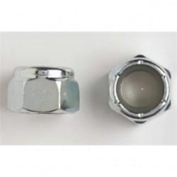 BizLine - R1420NLN - Bizline R1420NLN Nylon Lock Nut, USS, 1/4, Zinc Plated Steel, 100/PK