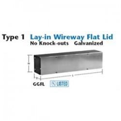 Unity - 101024GGFL - Unity 101024GGFL Wireway, Type 1, Screw Cover, 10 x 10 x 24, Steel, Galvanized, KOs