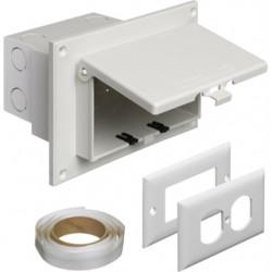 Arlington Industries - DBHR1W - Arlington DBHR1W Weatherproof-In-Use Box, 1-Gang, Recessed, Horizontal, Non-Metallic