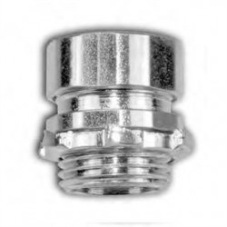 American Fittings - EC750US - American Fittings Corp EC750US EMT Compression Connector, 1/2 inch, Steel, Concrete Tight