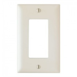 Pass & Seymour - TP26-LA - Pass & Seymour TP26-LA 1-Gang, Decora Wall Plate, Light Almond