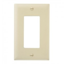 Pass & Seymour - TP26-I - Pass & Seymour TP26-I Wallplate, 1-Gang, Decora, Nylon, Ivory