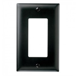Pass & Seymour - TP26-BK - Pass & Seymour TP26-BK 1-Gang, Decora Wall Plate, Black