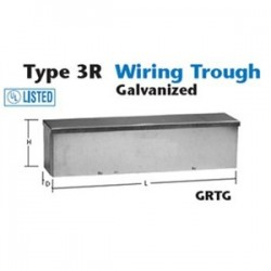 Unity - 4412GRTG - Unity 4412GRTG Wiring Trough, Type 3R, Slip-On Cover, 4 x 4 x 12, Galvanized, No KOs