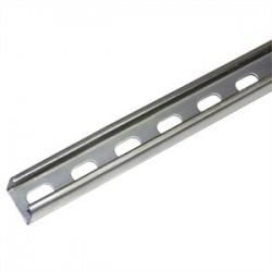 Atkore - P4100T 10PG - Unistrut P4100T 10PG Channel - Elongated Holes, Steel, Pre-Galvanized, 1-5/8 x 3/16 x 10'