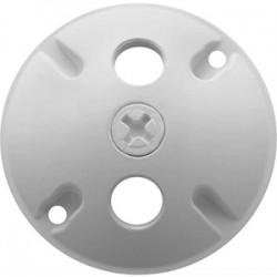 RAB Lighting - C103W - RAB C103W Weatherproof Cover Round 3 Holes White