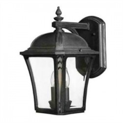 Hinkley Lighting - 1334MB - Hinkley Lighting 1334MB Lantern, Outdoor, 2 Light, 40W, Museum Black