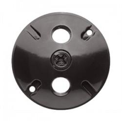 RAB Lighting - C103A - RAB C103A Weatherproof Round Cover, Diameter: 4-1/2, (3) 1/2 Hubs, Die Cast