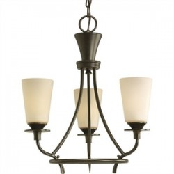 Progress Lighting - P4005-77 - Progress Lighting P4005-77 Chandelier, 3 Light, 60W, Forged Bronze