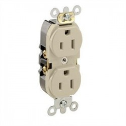 Leviton - 5262-SI - Leviton 5262-SI Duplex Recepacle, 15A, 125V, Slim Body, Ivory
