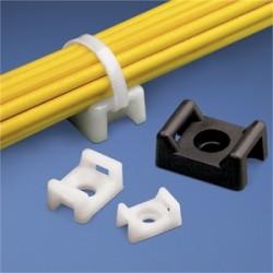 Panduit - TM3S10-C0 - Panduit TM3S10-C0 Cable Tie Mount, 4-Way, Nylon, Black, Outdoors, #10 Screw Mount