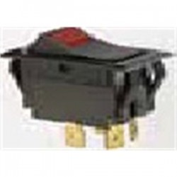 IDEAL Electrical / IDEAL Industries - 774056 - Ideal 774056 Rocker Switch, Red Light, DPST, On-Off, Spade Termination, 4 Terminals