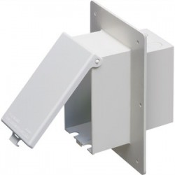 Arlington Industries - DBVME1W - Arlington DBVME1W Weatherproof Box, Recessed, While-In-Use Cover, 1-Gang, Non-Metallic