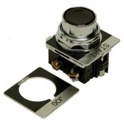 Eaton Electrical - 10250T30B-POP - Eaton 10250T30B-POP Push Button, Flush Black, w/2 Legend Plates, 1NO/NC Momentary