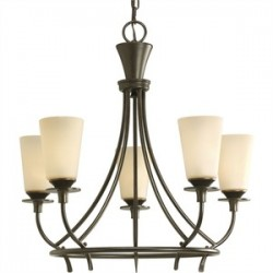 Progress Lighting - P4006-77 - Progress Lighting P4006-77 Chandelier, 5 Light, 60W, Forged Bronze