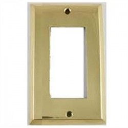 Mulberry Metal - 64401 - Mulberry Metal 64401 Wallplate, 1-Gang, Decora, Polished Brass