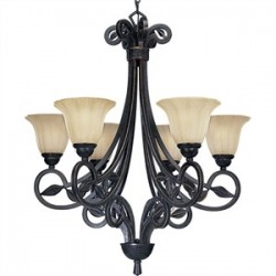 Progress Lighting - P4202-84 - Progress Lighting P4202-84 Chandelier, 6 Light, 100W, Espresso