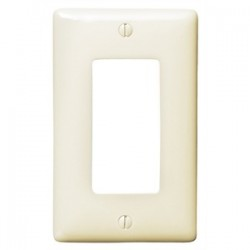Hubbell - NP26LA - Hubbell-Bryant NP26LA Decora Wallplate, 1-Gang, Nylon, Light Almond, Standard Size