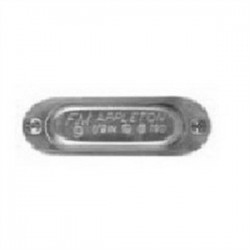 Appleton Electric - 190 - Appleton 190 Conduit Body Cover, Aluminum, 1/2, Form 9