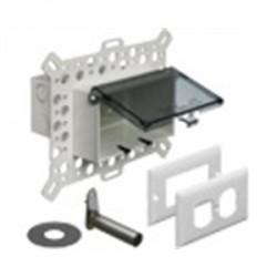 Arlington Industries - DBHM1C - Arlington DBHM1C Weatherproof-In-Use Box, 1-Gang, Recessed, Horizontal, Non-Metallic