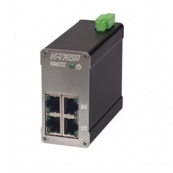Red Lion Controls - 104TX - N-TRON 104TX Ethernet Switch, 4 Port, Unmanaged, 10-30VDC, 10/100BaseTX