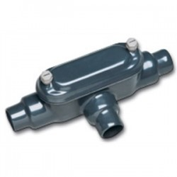 Perma-cote / Robroy - PMLB75 - Perma-Cote PMLB75 Conduit Body, Type LB, Size: 3/4, Form 8, Steel/PVC Coated