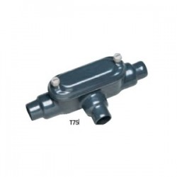 Perma-cote / Robroy - PMT75 - Perma-Cote PMT75 Conduit Body, Type T, Size: 3/4, Form 8, Steel/PVC Coated