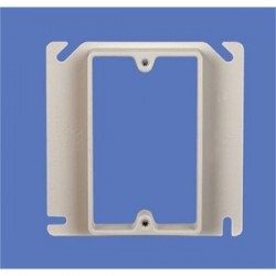 Allied Moulded - 9345 - Allied Moulded 9345 Device Ring, 1-Gang, 1/2 Offset, Size: 4 x 4, Depth: 5/8