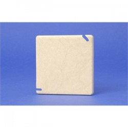 Allied Moulded - 9344 - Allied Moulded 9344 Square Box Cover, Blank, Diameter: 4, White, Non-Metallic