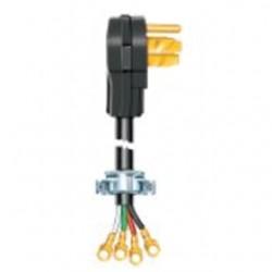 Coleman Cable - 09156-88-08 - Coleman Cable 09156-88-08 30 Amp, 125/250V AC, 4-Wire Dryer Cord Kit, NEMA 14-30P, Length: 6ft, Black