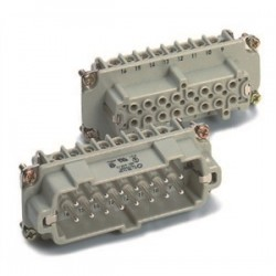 Lapp Systems - 10.195 - Lapp 10.195 Female Insert, Screw Terminated, HBE 16, 16 Contacts, With Wire Protection