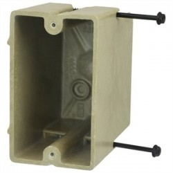 Allied Moulded - 1099-SS - Allied Moulded 1099-SS Switch/Outlet Box, 1-Gang, Depth: 3-9/16, Nail-On, Non-Metallic