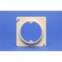 Allied Moulded - 9347 - Allied Moulded 9347 4 Square Box Device Ring, 1-Gang, 1/2 Raised, Non-Metallic