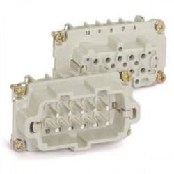 Lapp Systems - 10.1920 - Lapp 10.1920 Male Insert, Screw Terminated, HBE 10, 10 Contacts, No Wire Protection