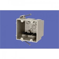 Allied Moulded - 2300-N - Allied Moulded 2300-N Switch/Outlet Box, 2-Gang, Depth: 3, Nail-On, Non-Metallic