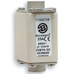 Cooper Bussmann - 170M2666 - Eaton/Bussmann Series 170M2666 160A Square Body DIN 43-653 Fuse, Size 00, Indicator for Micro, 690/700V