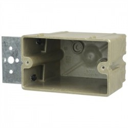 Allied Moulded - 1098-Z4H - Allied Moulded 1098-Z4H Switch/Outlet Box with Bracket, Depth: 1/2, 1-Gang, Non-Metallic