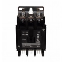 Eaton Electrical - C25DND315T - Eaton C25DND315T 15A, 3P, Definite Purpose Contactor