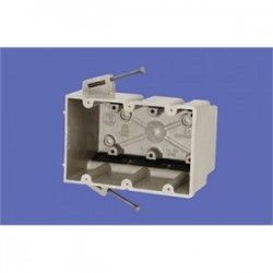 Allied Moulded - 3300-N - Allied Moulded 3300-N Switch/Outlet Box, 3-Gang, Depth: 3, Nail-On, Non-Metallic